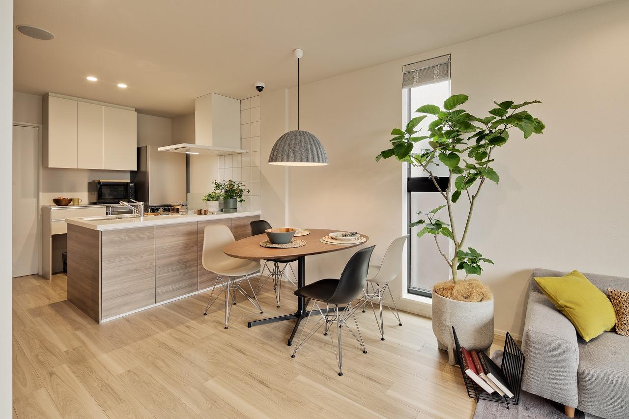 共働き夫婦のコンセプト賃貸住宅「fufu」を採用した賃貸ゾーン。リモートワークとリラックスゾーンの共有など判りやすくご提案しています
